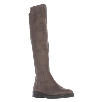 Marc Fisher Felissa2 Knee High Riding Boots, Gray, 8.5 US