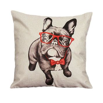 Vintage Linen Dog Pillow Case