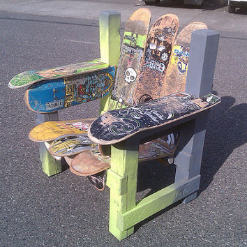 Order a Custom Recycled Skateboard Chair by jrydevisuals on Etsy