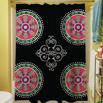 Thumbprintz Boho Medallion Square Shower Curtain