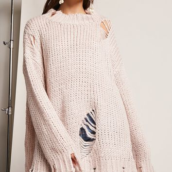 Oversized Purl Knit Sweater