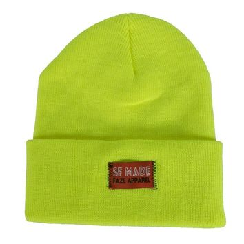 FAZE Trademark Beanie in neon yellow