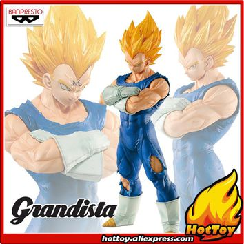 "Original Banpresto Resolution of Soldiers Grandista Vol.2 Collection Figure - Super Saiyan Majin Vegeta from ""Dragon Ball Z"""