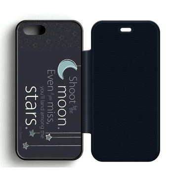 Cute Quotes Leather Wallet Flip Case iPhone 5 | 5S