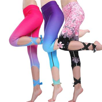 Women Pro Bodybuilding Run Tight Sport Compress Gym Pant Yoga Exercise Fitness Quick Dry Legging Workout Train Clothing E75