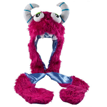Furry Monster Plush Hat Mittens