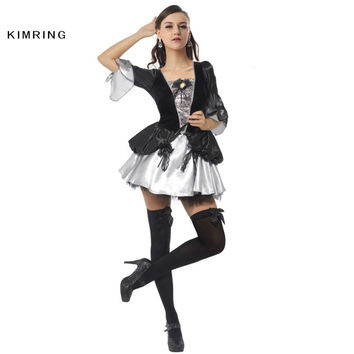 KIMRING DELUXE BAROQUE STYLE HALLOWEEN COSTUME MARIE ANTOINETTE COSPLAY MUSIC FASHION FANCY DRESS ADULT WOMEN COSTUME DRESS