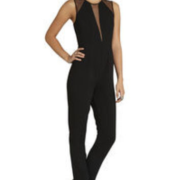 BCBGeneration Sheer Yoke Jumpsuit