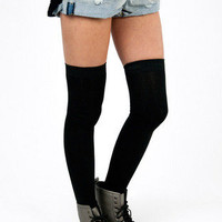 Sky Thigh High Socks $11