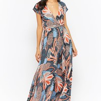Retro Billowy Surplice Dress