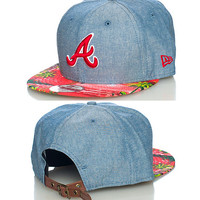 ISLAND ATLANTA BRAVES MLB STRAPBACK CAP - Blue - NEW ERA