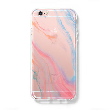 Pastel Silk Abstract iPhone 6 Case iPhone 6s Plus Case Galaxy S6 Edge Clear Hard Case C116