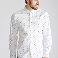 Star-Printed Collared Shirt