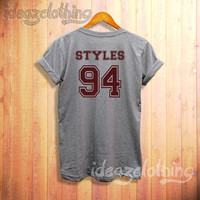 Harry Styles shirt styles 94 tshirt one direction shirt sport grey u1