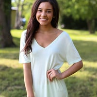 V Neck Piko  Mint