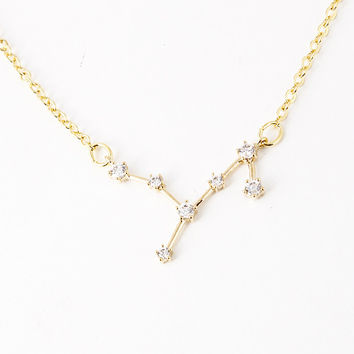 Only 6 left! Virgo Celestial Constellation Zodiac Necklace (08/23-09/23) - As seen in Real Simple & People Magazine