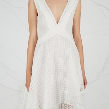 Finders Keepers Begin white lattice-effect mini dress