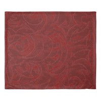 Deep Red With Delicate Vine Ornamental Pattern Duvet Cover