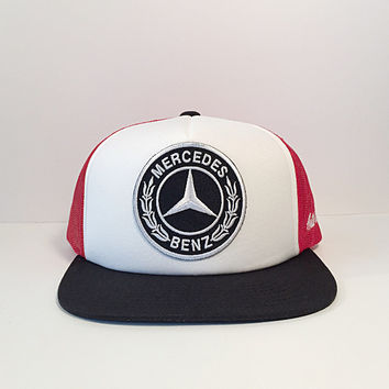 Mercedes-Benz logo custom snapback trucker hat