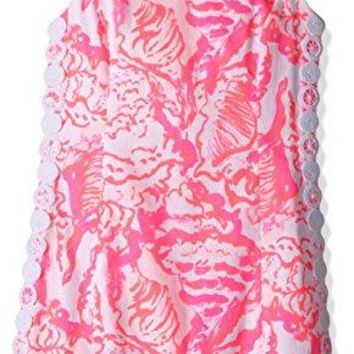 Lilly Pulitzer Little Girls' Mini Mila Shift, Coral Reef Beside the Point, 14