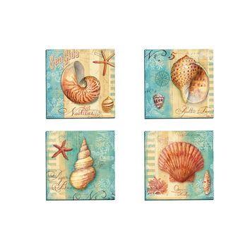Portfolio Canvas Decor 'Ocean Nautilus' by Geoff Allen Gallery Wrapped Canvas (Set of 4)   Overstock.com Shopping - The Best Deals on Gallery Wrapped Canvas