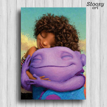 dreamworks home print kids poster nursery art boov decor