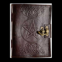 Pentagram Genuine Leather Blank Journal with Latch