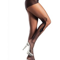 Be Wicked BW641 Sheer Woven Tiger Pantyhose