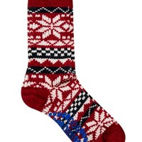 ASOS Slipper Sock With Fairisle Design