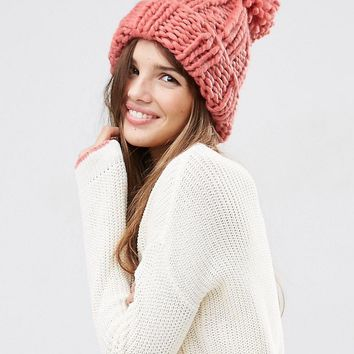 ASOS Extra Chunky Beanie with Extra Large Pom