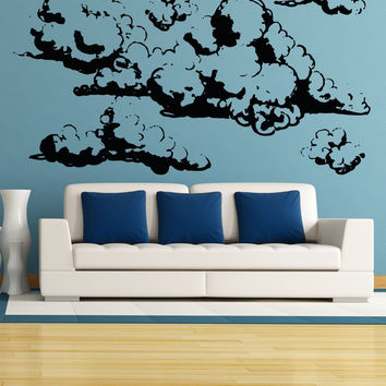 Vinyl Wall Decal Sticker Cumulus Clouds #OS_AA1696