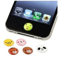 SODIAL- 6 Pieces Home Button Sticker compatible with Apple iPhone / iPad / iPod touch, Animal: Cell Phones & Accessories