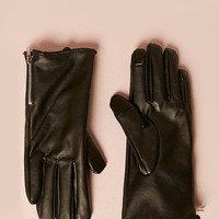 Faux Leather Touchscreen Gloves