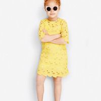 Stella McCartney Kids Ettie Girls eyelet Heart Dress 363747 - FINAL SALE