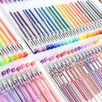 Feela 260 Colors Gel Pens Set 170 Percent More Ink 130 Unique Gel Pen Plus 130 Refills for Adult Coloring Books Drawing Art Markers