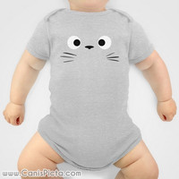Totoro Onesuit Kawaii My Neighbor Anime Grey Manga Troll Hayao Miyazaki Studio Ghibli Baby Shower Gift Infant Newborn Boy Girl Christmas