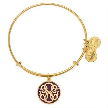 Alex and Ani Cabernet PATH OF LIFE Charm Bangle - Shiny Gold Finish