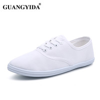 New women canvas shoes breathable fashion brand women flat shoes woman size 35-42