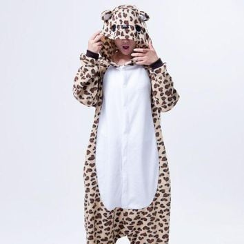 CREYUG3 Cartoons Lovely Couple Leopard Home Animal Sleepwear Halloween Costume [9220975812]