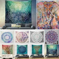 Mandala and Indian Print Tapestry~Wall Hanging, Bedding, Beach Blanket  150*130cm/ 150*200cm