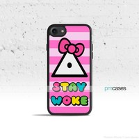 Stay Woke Kitty Phone Case Cover for Apple iPhone & iPod Touch