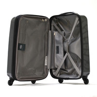 "Olympia Titan 21"""" Expandable Hardcase Outdoor Travel Rolling Carry-On Luggage Suitcase Black"