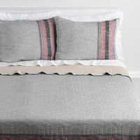 Coral and Blue Geometric Kalea Bedding Collection