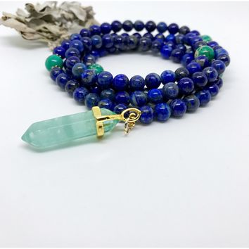 Blue Lapis Strength Mala | Mala Necklace | Mala Beads