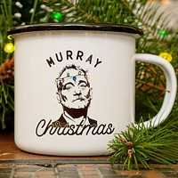 Bill Murray Christmas Holiday Enamel Camping Coffee Mug
