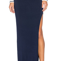 Zamora Maxi Skirt in Navy