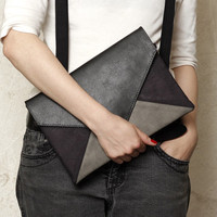 "Clutch bag ""Letter Medium Duocolor"""