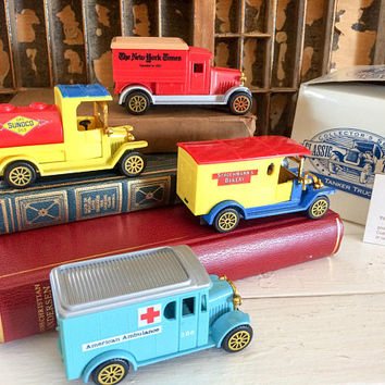 Readers Digest Car, Readers Digest, Classic Truck, Diecast Collectors, Matchbox Truck Set, Minature Car Set, Vintage Diecast Car, Toy Car