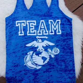 Sale! Team marines tank top