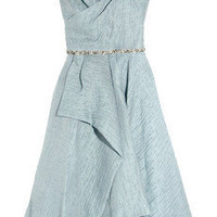 Lela Rose | Embellished woven organza dress | NET-A-PORTER.COM